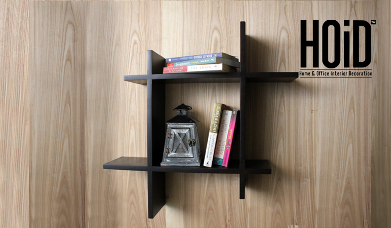 Asymmetric Square Floating Wall Shelf Hoid Pk