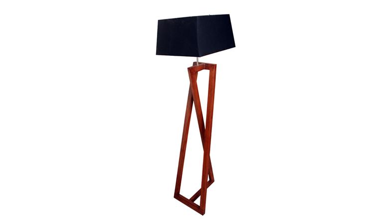 Zee Solid Wooden Floor Lamp With Shade Hoid Pk