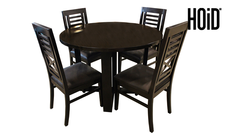 Gol Round Dining Table With 4 Chairs Hoid Pk
